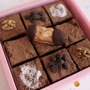 Dubbel chocolade brownie