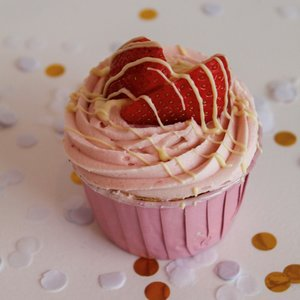 Cupcake Aardbei